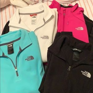 The North Face half zip pullovers